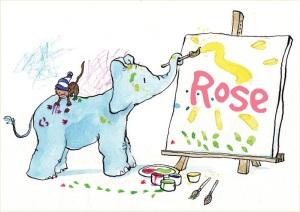 rose-olifantje