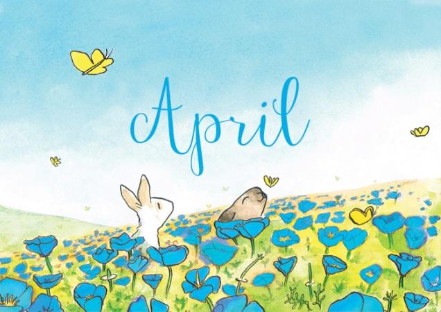 April-blauw